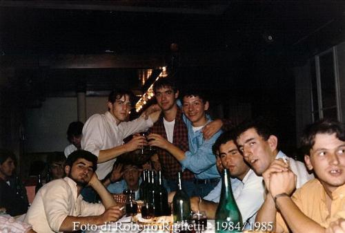 Roberto Righetti con gli amici